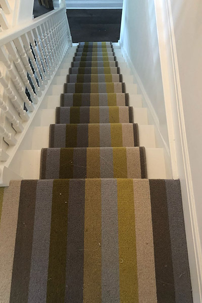 striped stairway carpets